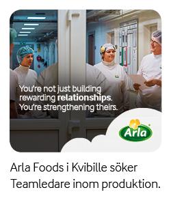 Arla Foods i Kvibille söker Teamledare inom produktion